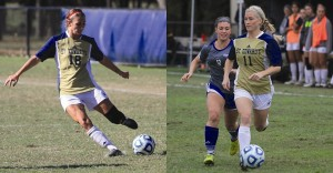 St Edwards women's soccer players