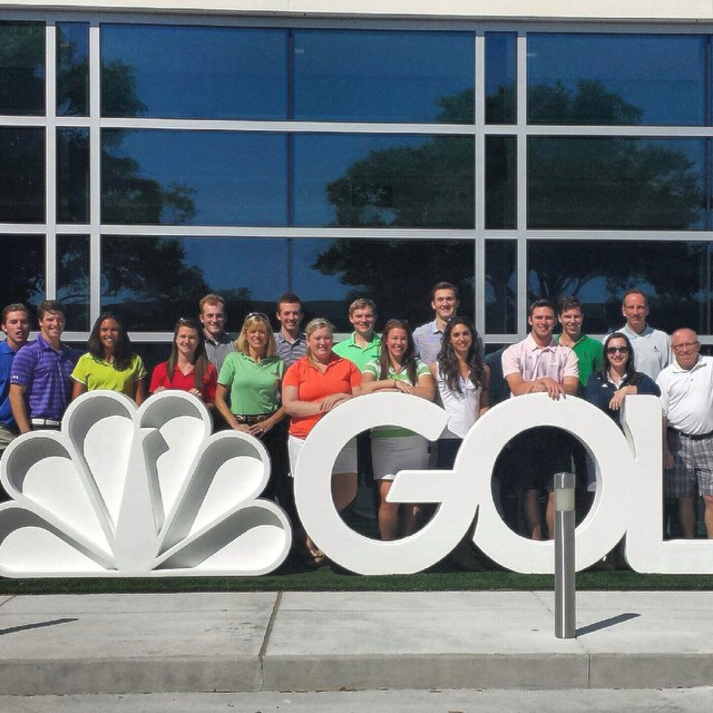 Allegheny Golf teams at the Golf Channel Studios