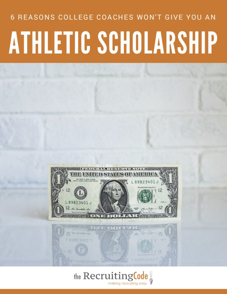 6 reasons you won't get an athletic scholarship